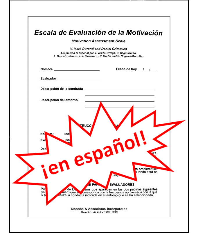 Motivation Assessment Scale Mas 25 Forms In Spanish Monaco Associates What country are you from? motivation assessment scale mas 25