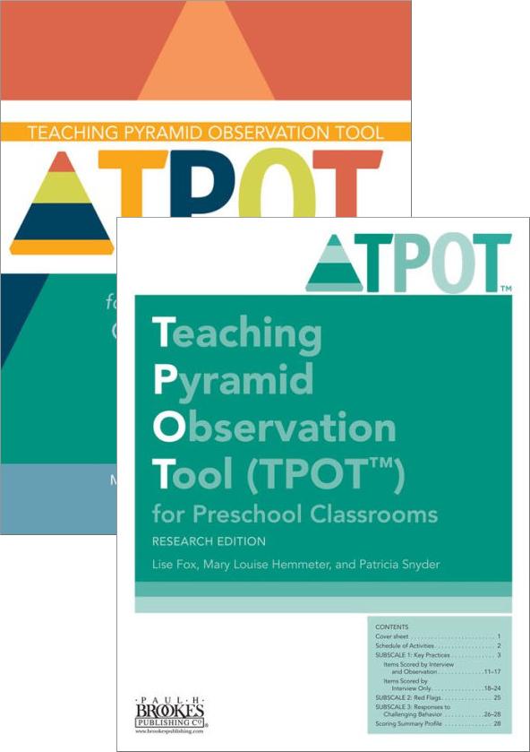 Teaching Pyramid Observation Tool Tpot Set Monaco Associates